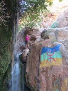 A waterfall in the Dades Gorge