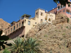 Our hotel perched above the gorge